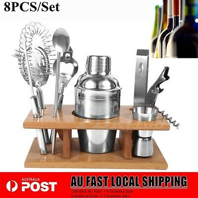 PRO Stainless Steel Cocktail Shakers Mixer Drink Bartender Martini Bar Set Tools