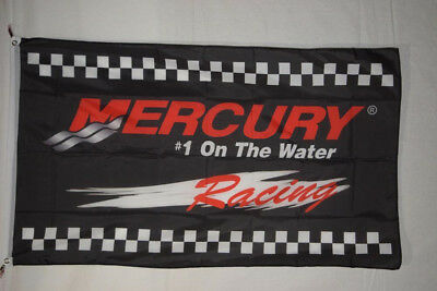 Black Mercury Racing Motorsporst Car Banner Flag 3X5ft Sign #1 On The Water F1