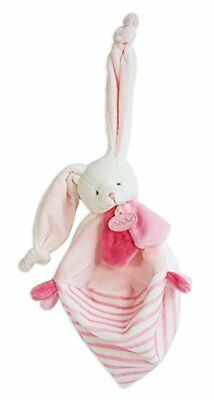 Baby nat' Les Tendres Doudou Forme Lapin Rose