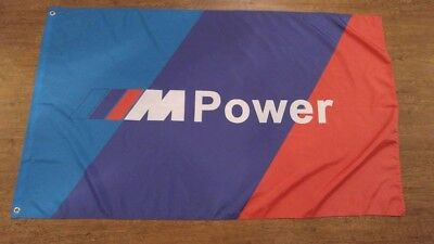 TRICOLER BMW M Power Banner Flag 3X5ft Cars Racing Roadster M1 M2 M3 M4 M5 M6
