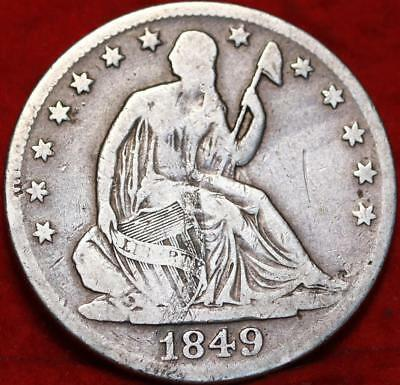 1849-O New Orleans Mint Silver Seated Liberty Half Dollar Free S/H