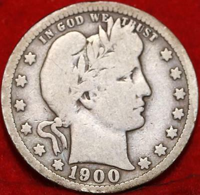 1900-O New Orleans Mint Silver Barber Quarter Free Shipping