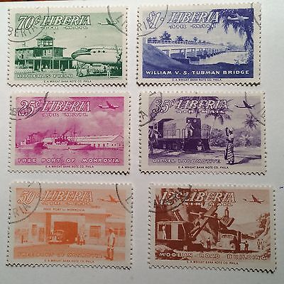 postage stamps Liberia lot of 6 air mail