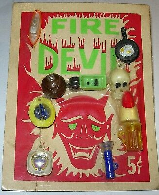 Fire Devil Vintage Gumball Charms Display Card