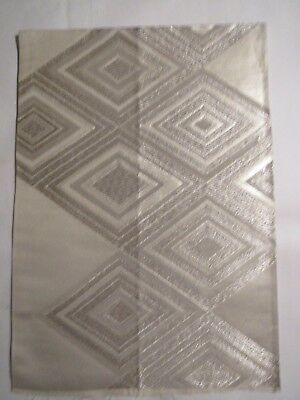 """Very Pretty Silver Abstract Textured Pattern OBI Silk Fabric Japan 17"""" ~ NR 8530"""