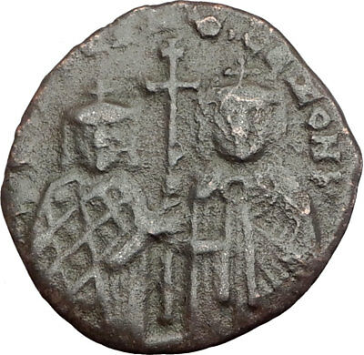 CONSTANTINE II & ZOE 914AD Constantinople Follis Ancient Byzantine Coin i64881
