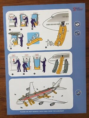 Sayegh Aviation Group Boeing 747 Safety Card