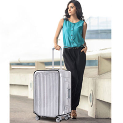 20-30'' PVC Dust-proof Waterproof Transparent Luggage Protector Suitcase Cover