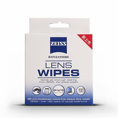 50 Zeiss Pre-Moistened Lens LCD Phone Screen Optical Camera Cleaning Cloth Wipes