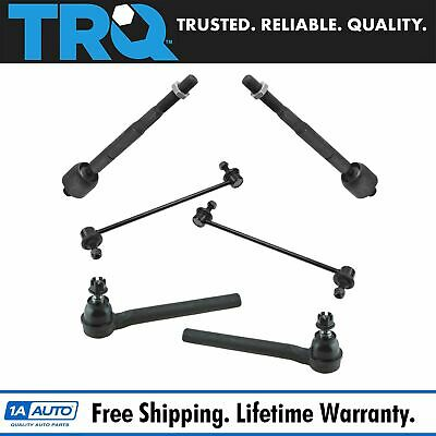 FRONT TIE ROD End Sway Bar Link Steering Suspension Kit Set 6pc for