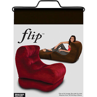 Flip chair adult bean bag lounger- Black Colour