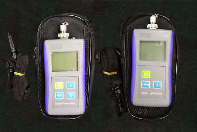 Fiber Optic Laser Light Source 1310/1550nm Digital Optical Power Meter -70+10dBm