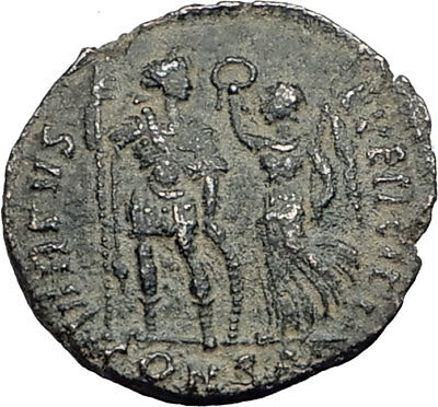 ARCADIUS with Victory 395AD Constantinople Authentic Ancient Roman Coin i64887