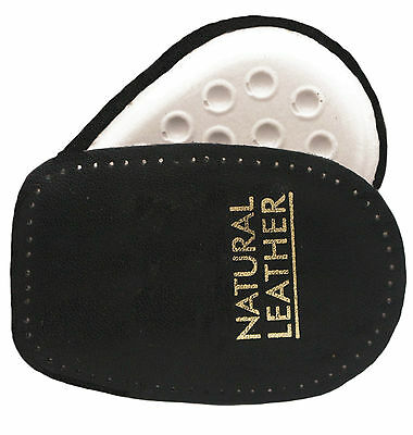 Cushion Heel Pads Leather Upper Black