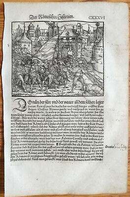 Livius History of Rome Post Incunable Woodcut Schoeffer (136) - 1530