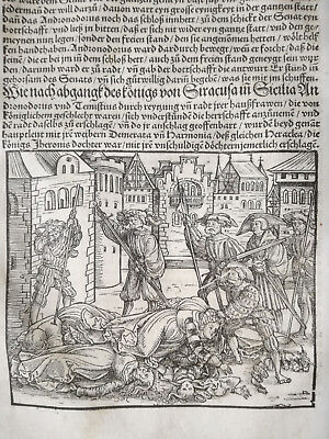 Livius History of Rome Post Incunable Woodcut Schoeffer (128) - 1530