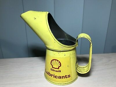 Vintage Shell Lubricants Half  Pint Oil Can Pourer