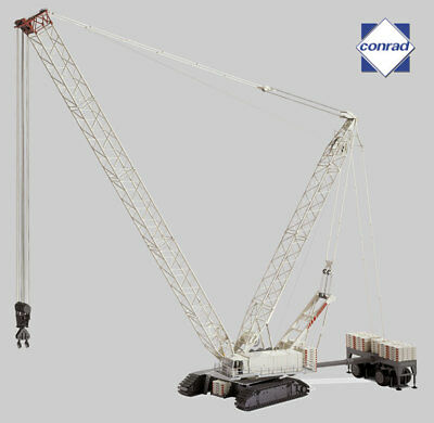 HUGE Conrad 1/50 TEREX DEMAG CC 8800 CRAWLER CRANE With Luffing Fly Jib Set