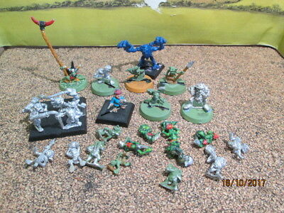 Job Lot Of 27 Small Metal  Warhammer Figures - Some On Bases