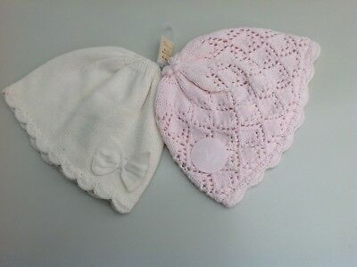 Next baby girls two pack hat set age 6-12 months