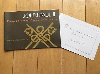 1979 John Paul ll Visit to Galway, Ireland Programme/Message