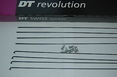 DT Swiss Revolution black spokes 256-304mm one spoke + one alloy 12mm nipple