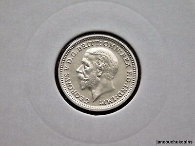🌟 UNCIRCULATED? 1934 Threepence Coin (Silver .500) George V