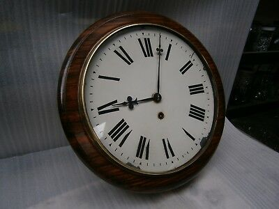 Antique British 12 Inch School Hall Clock Good Working Order.