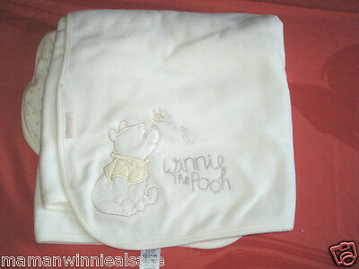 couverture flanelle ultra douce neuve disney winnie couleur  creme