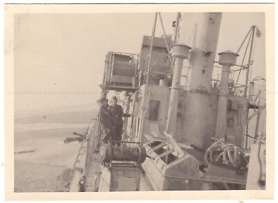 Dunkirk 1940. German Photograph of Beached Warship.