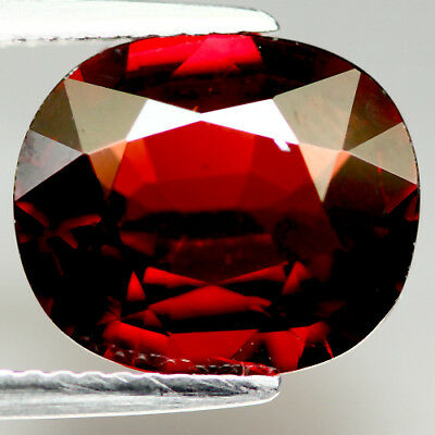 5.34 Ct Natural! Red Mozambique Garnet Oval