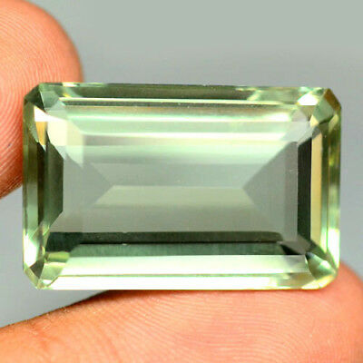 35.65 Ct Aaa! Natural! Light Green Uruguay Amethyst Octagon