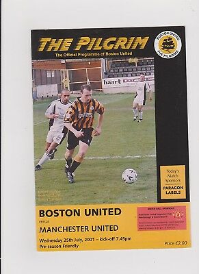 Boston United v Manchester United 2001/02 Friendly