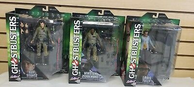NEW Diamond Select Ghostbusters Series 1 Action Figures Ray Winston Louis Tully
