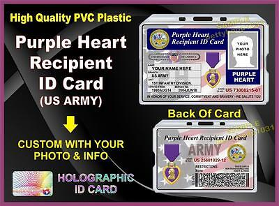PURPLE HEART Recipient ID Card (US ARMY)  - Military - United States Vet Medal