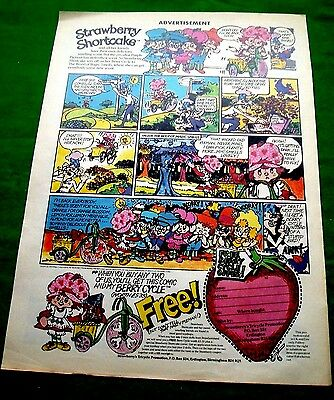 Strawberry Shortcake Berry Cycle & Comic Stunning Colour  Mail Away Advert 1983