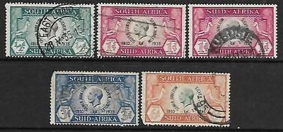 SOUTH AFRICA A used selection of (5) commem. stamps 1935