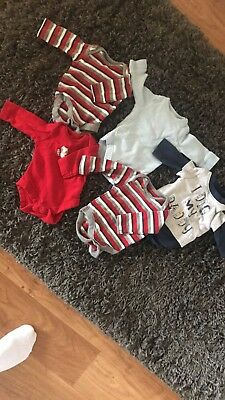 long sleeved mothercare vests never been worn