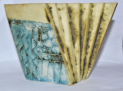 Carn Pottery Fan Box Vase (both directions) Z1 by John Beusmans