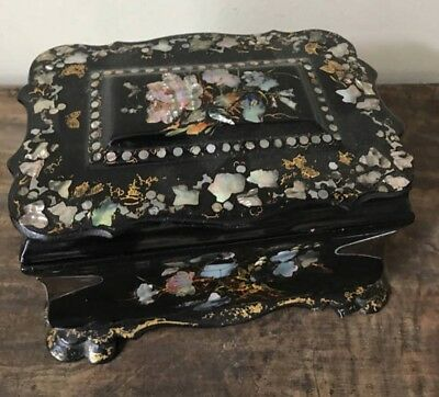 Beautiful 19th Century Mother of Pearl Tea Caddy