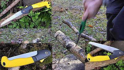 High Quality Carbon Steel Folding Saw Bush Craft Outdoors Gardening  UK seller