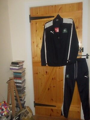 Plymouth Argyle Mesh Lined Tracksuit By Puma In Size Medium - New With Tags