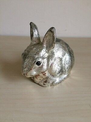Vintage, Rabbit Money Box - Silver Plated - 70s