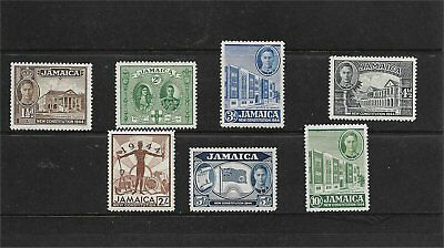 British Jamaica #129-135 Mint Hinged w/ 5 & 10 Shillings
