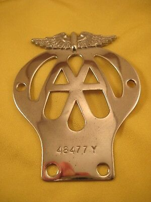 AA Automobile Association - Vintage Motorcycle Badge - Not a Car Badge