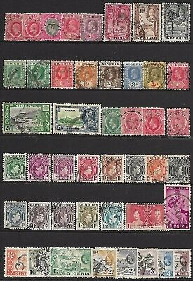Nigeria A Collection Of (45) Stamps From 1902