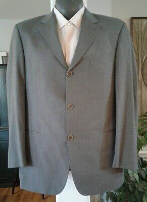 "HUGO BOSS ""EINSTEIN/SIGMA"" Gray Super 140's Wool Suit Blazer Jacket Size 52EU"