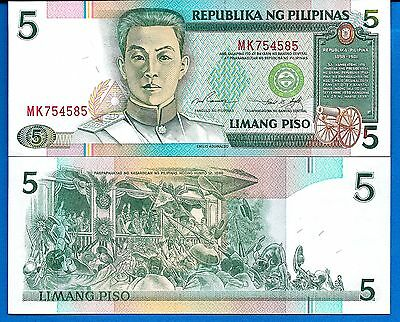 Philippines P-180 Five Piso ND Year 1995 Uncirculated FREE SHIPPING