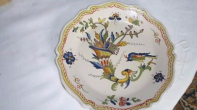 assiette  faience de nevers 18/19 eme corne d abondance earthenware plate Nevers