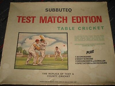 Subbuteo Cricket - Test Match Edition - Table Cricket - Subbuteo Test Match Game